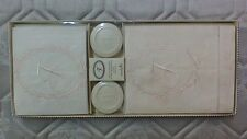 """Mud Pie Monogrammed """"T"""" Vanillawood Soap & Towels Set, New in Gift Box"""
