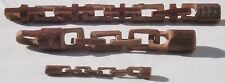 Three carved whimsey chains by the same maker in great condition and look.
