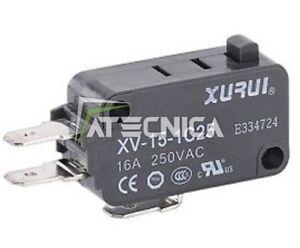 Microswitch électrique NO NC 250V 16A micro-interrupteur à bouton 50g de force