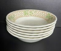 """Set Of 6 Churchill England Chartwell Transfer Ware Cereal Salad Bowls 6"""" MINT"""