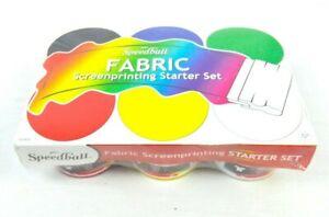 2012 Speedball Fabric Screenprinting Ink Starter Set New Art Supplies Painting