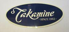 TAKAMINE GUITAR DECAL STICKER CASE RACK BUMPER STICKER NICE NEW RARE COLLECTIBLE