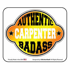 """AUTHENTIC BA CARPENTER (2 Pack) Hard Hat Printed Sticker (size: 2"""" color: O/Y)"""