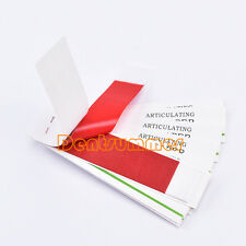 1 box Dental Articulating Paper Bite paper Thick Strips Sheets Book red