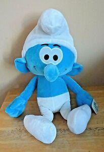 """NWT Nanco 2011 Peyos The Smurfs Boy Stuffed Plush Doll 17"""""""