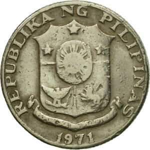 [#548118] Coin, Philippines, 25 Sentimos, 1971, VF(30-35), Copper-Nickel-Zinc