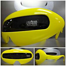 SPACE ROBOT PARTY RAVE CLUB COSTUME CYCLOPS FUTURISTIC SHIELD SUN GLASSES Yellow