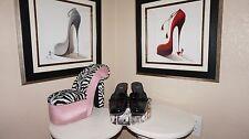 Unbelievable Stuart Weitzman black mules1 ½ inch chunky heel all leather sz 7 ½