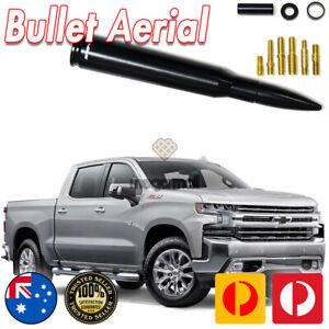 Black Antenna Aerial Bullet Stubby Bee Sting for Chevrolet Silverado 50 CAL