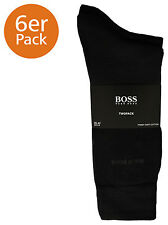 Hugo Boss Pack of 2 Socks Soft Cotton Two-pack RS Uni Plain Colour Selection Black UK 9-11