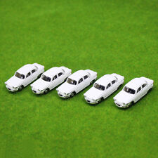 5PCS Model Cars White 1:100 TT HO Scale for Building Railway Train Scenery NEW