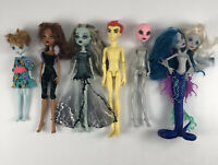 Monster High Lot of 6 Dolls Serpentine Heath Burns Clawdeen Wolf and More