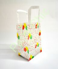 """SMALL PARTY BAGS WITH HANDLES BALLOONS 5""""x 7""""x 3"""" KIDS LOOT CELLO BOYS GIRLS"""