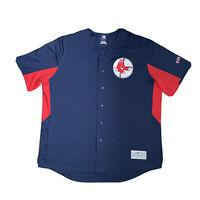 Genuine MLB Boston Red Sox #9 WILLIAMS Blue Blank Baseball Jersey Shirt 2XL RARE