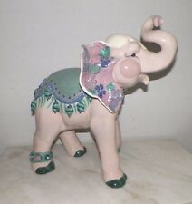 """VINTAGE EXTRA LARGE KAY FINCH CIRCUS ELEPHANT VIOLET 17"""" TALL"""