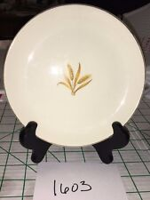 "1603V  VINTAGE GOLDEN WHEAT CHINA SAUCER  6.25"" 22K GOLD TRIM HOMER LAUGHLIN"