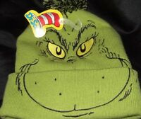 Green Dr. Seuss How The Grinch Stole Christmas Movie Book Character Beanie Hat