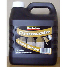 Bartoline Creocote Oil Based Wood Treatment 4L Light
