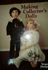 Making Collector's Dolls by Venus Dodge*directions for felt & clay*lg patterns!