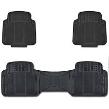 Car Utility Rubber Floor Mats Trimmable to Fit Easy Wash Black Auto Mat