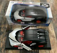 Maisto Bugatti Chiron Special Edition 1:18 Exclusive Style White Red Black NIB