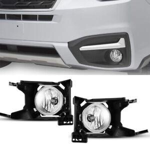 2Pcs Front Grills Bumper Driving Halogen Lamp Fog Lights For Subaru Forester 17+