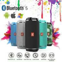 Haut-parleur Bluetooth sans fil portable Basse stéréo étanche USB AUX D1