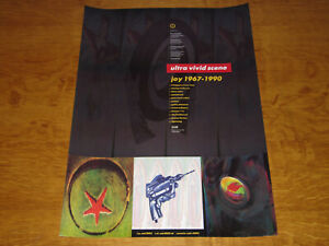 ULTRA VIVID SCENE - JOY 1967-1990 - ORIGINAL UK 4AD PROMO POSTER - NEAR MINT!!
