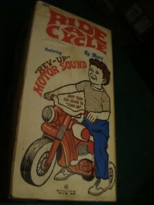 RIDE-A-CYCLE -- UNUSED -- MARX rare outdoor toy - 1969 -- big wheel