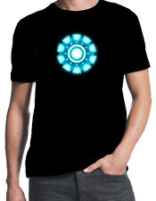 Iron Man Arc Reactor Unibeam Superhero Comic Book Movie Character Mens T-Shirt