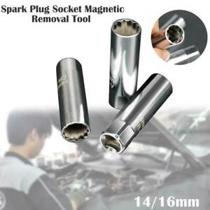 14/16mm Spark Plug Socket Removal Tool for BMW Toyota Sonata Citroen Durable