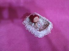 """3"""" BABY DOLL BED BLANKET PILLOW PANTY KNIT HAT NURSERY DECOR BABY KEEPSAKE GIFTS"""
