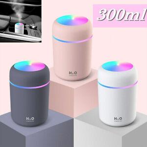 USB Mini Car Humidifier Air Purifier Freshener Aroma Essential Oil Diffuser
