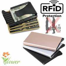 RFID Blocking Men Credit ID Card Holder  Aluminum Slim Metal Wallet Purse New