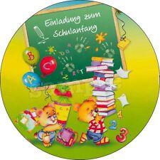 Eßbar Einschulung Tortenaufleger NEU Party Schulanfang Deko Tortendeko Schulkind