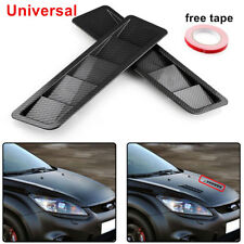 2x Carbon Fiber Look Style Car Hood Vent Louver Cooling Panel Trim Universal ABS
