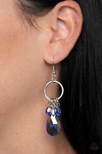 Paparazzi Earring Unapologetic Glow Blue Oil-Slick Mermaid Dangle