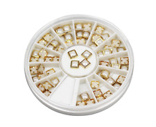 3D GOLD EDGE PEARL NAIL ART RHINESTONE WHEEL #135  nail art crystal craft l gems