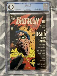 BATMAN #428 CGC 8.0 DEATH OF ROBIN