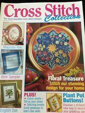Cross Stitch Collection Apr 1998 38 Floral Treasure Tree Birth Sampler Magazine