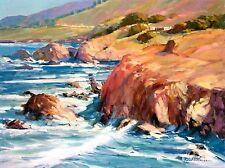 Robert Williams - Central Coast, Oil On Canvas, Framed