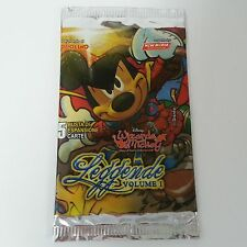 Wizards of Mickey Leggende Volume 1 busta 5 carte Italiano trading card booster