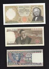 3 Riproduzioni Banconota 100000 - 50000 -20000 - Lire Repubblica Italiana