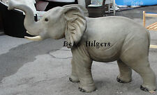 Elefant Lebensgroß Glasfasergewebe Afrika Groß Baby Tierfigur Figur Garten Deko