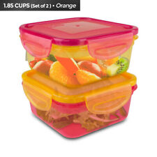 New listing Cool Gear Air Tight Food Lunch Box Container 1.85 Cup Bpa-free 2-Pack ^x