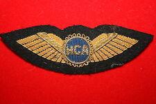 BRITISH CIVIL AIRLINE PILOT WING BADGE HCA ? AIR AIRWAYS BULLION WIRE