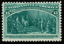 Scott#238 15c Columbian Exposition Issue 1893 Mint NH OG Never Hinged