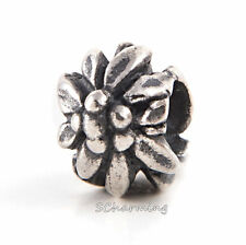 Authentic Trollbeads Silver Mountain Flower 11160