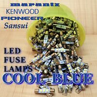 (10) BLUE 8v LED Fuse Lamp Bulbs for Vintage Receivers