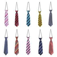 School Boys Kids Children Baby Elastic Stripe Tie Necktie Wedding Gentleman